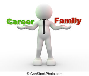 gezin, carrière, evenwicht