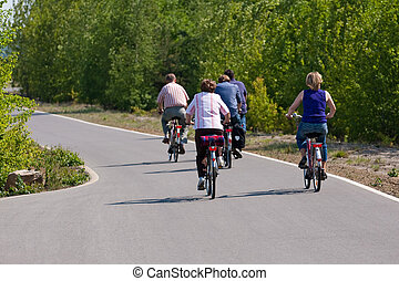 gezin, cycling