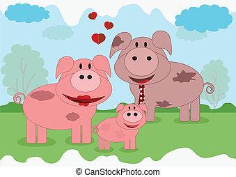 gezin, dieren