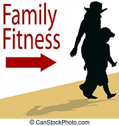 gezin, fitness