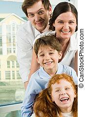 gezin, gezichten