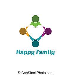 gezin, hart