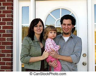 gezin, nieuw huis