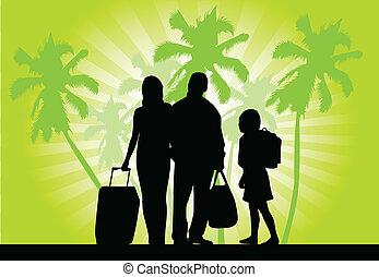 gezin, op vakantie