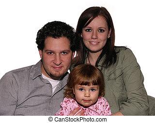 gezin, op wit