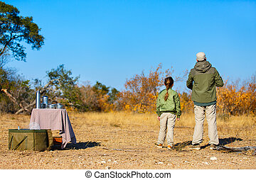 gezin, safari