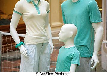 gezin, van, mannequins