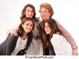 gezin, van, vrouwen