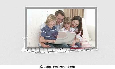 gezin, video's, verschijnen