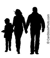 gezin, vier