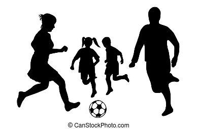 gezin, voetbal