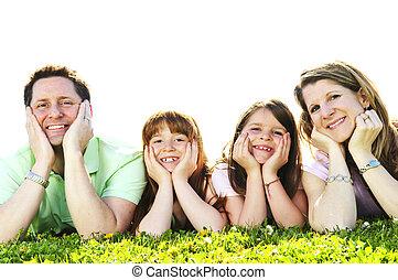 gezin, vrolijke
