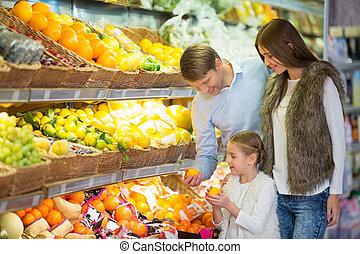 gezin, winkel