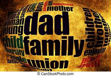 gezin, woord, wolk