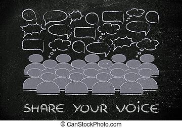 gezoem, meningen, nieuws, communicatie