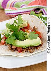 Gezogen, Schweinefleisch, weich,  Taco