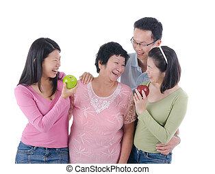 gezond hapje, vergadering, gezin