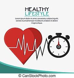 gezond hart, chronometer, ontwerp, levensstijl
