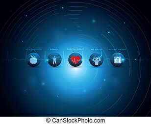 gezond hart, levensstijl, iconen