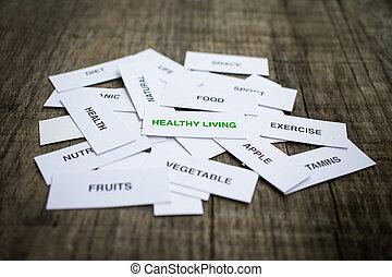 gezond leven, concept