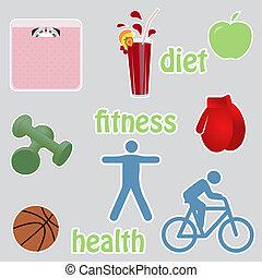 gezond leven, stikers