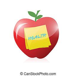 gezond voedsel, ontwerp, illustratie