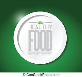 gezond voedsel, ontwerp, levensstijl, illustratie