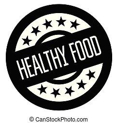 gezond voedsel, rubberstempel
