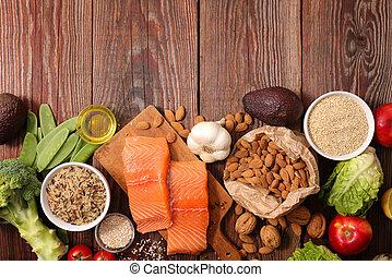 gezond voedsel, samenstelling