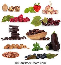 gezond voedsel, sampler