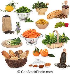 gezond voedsel, selectie