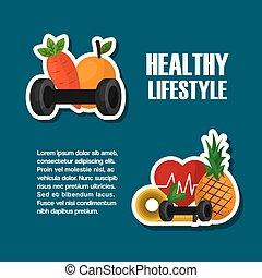 gezond voedsel, sportende, levensstijl