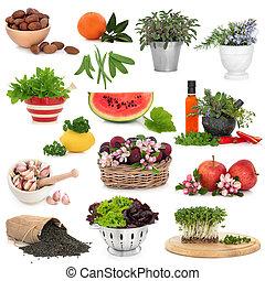 gezond voedsel, verzameling