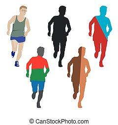 gezonde , age., levensstijl, enig, marathon