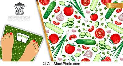 gezonde , concept, dieet, kleurrijke