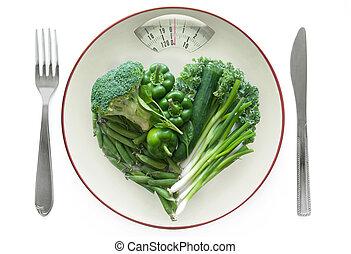 gezonde , concept, dieet