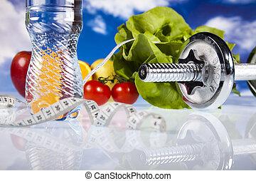 gezonde,  concept, Levensstijl