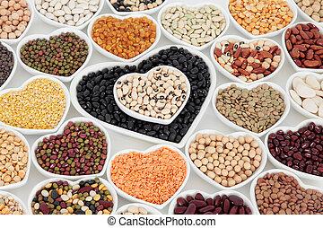 gezonde , groente, peulvruchten, droog