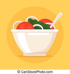 gezonde , groente, slaatje