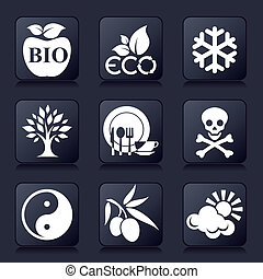 gezonde , iconen, levend