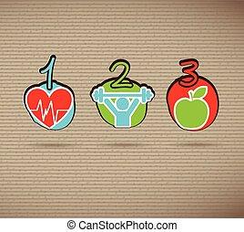 gezonde , iconen