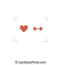 gezonde , leven, vector, pictogram