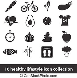 gezonde levensstijl, iconen