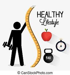 gezonde levensstijl, ontwerp