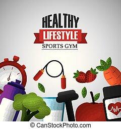 gezonde levensstijl, sportende, gym