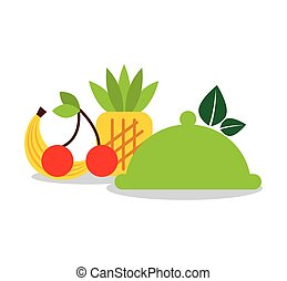 gezonde , menu, vegetarian voedsel