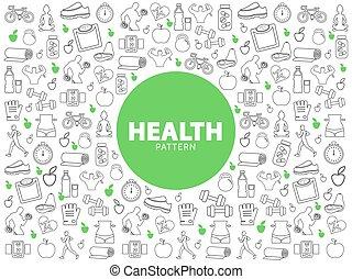 gezonde , model, levensstijl