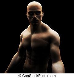 gezonde , model, mannelijke , muscled