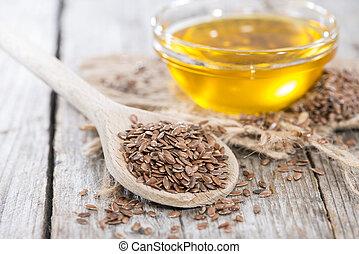 gezonde , olie, linseed