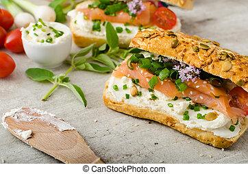 gezonde vis, snack